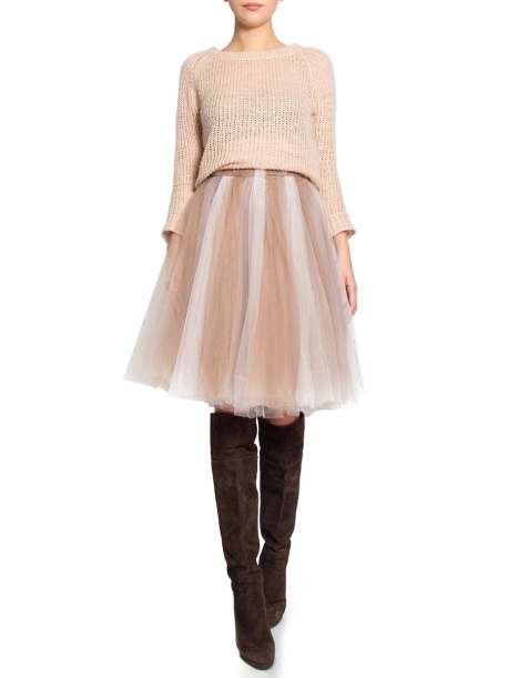 Tulle skirt with 3 different color strips
