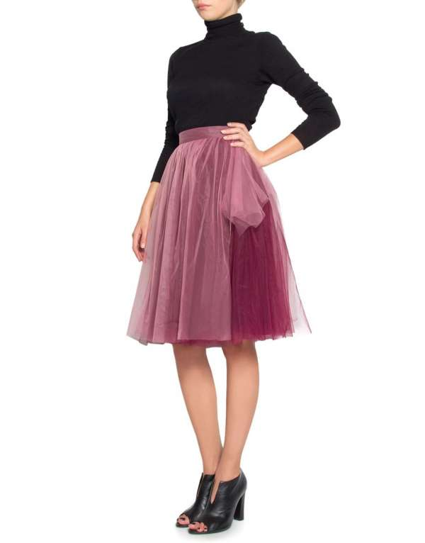 Tulle skirt with different colors