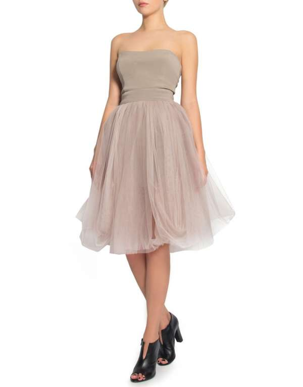 Grey tulle dress