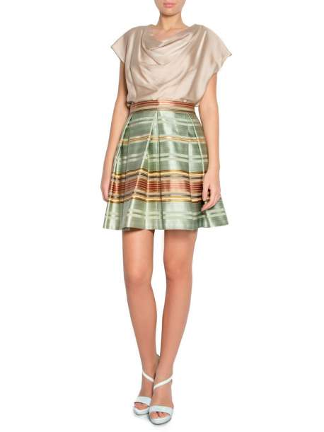 Silk and cotton blend cloth skirt
