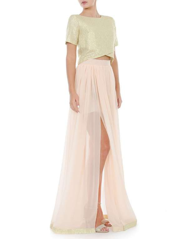 Sinthetic chiffon skirt