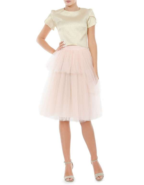 Tulle skirt pink pale
